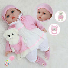 More details for 22 inch simulation doll handmade vinyl soft silicone newborn doll gift