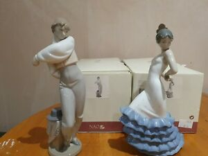 """Pair of Nao by Lladro """"EL DUENDE & FLAMENCO"""" - BOXED - A/F"""