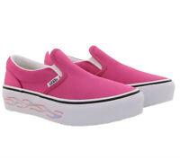 VANS Schuhe stylische Kinder Slip-On Sneaker mit Flammenmuster