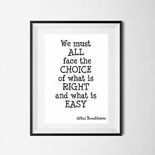 Quote Poster Art Print A4 wall Decor set of 4 dumbledore harry potter posters