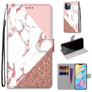 Splicing Marble Fashion 3D Popular Flip Wallet Case Back Cover For Various Phone
