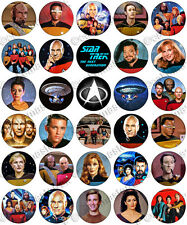30 X de Star Trek The Next Generation Comestibles De Arroz Oblea papel Cupcake Toppers