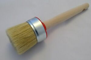 55mm Pure Bristle Professional Round Paint Brush, Chalk Paint, Wax & Oil