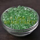 25pcs 6mm Cube Square Faceted Crystal Glass Loose Spacer Beads Light Green