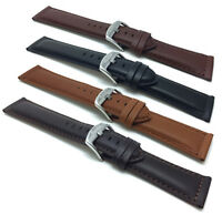 18mm-30mm Leather Watch Band Strap, Black,Tan, Brown for Citizen, Fossil & More