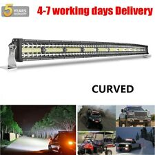 "52"" Curved LED Light Bar Offroad Driving for 04-14 Ford F150 Raptor Upper Roof"