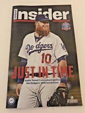 Dodger Insider Magazine Justin Turner June 2018 Just in Time