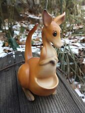 Vtg Josef Original Rocking Kangaroo Figurine Original Sticker Marsupial Japan