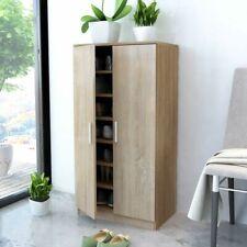 vidaXL Shoe Cabinet 7 Shelves Oak Rack Storage Unit Cupboard Footwear Stand