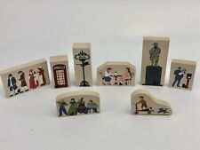 Cats Meow Village Set of 8 Random Accessories - Phonebox - People - Statue