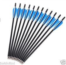 """12Pcs Carbon Arrows 20"""" Crossbow Bolts Crossbow Outdoor Hunting Archery Hunter"""