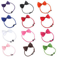 10X(Cat Adjustable Collar pet bow tie Pet Dog Necktie Bow Tie Puppy Accessor7J5)