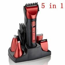 5In1 Electric Washable Nose Ear Beard Trimmer Razor Cordless Hair Clipper Shaver