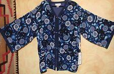 NWT Diane Gilman WOW Silk Pop Art-Wear Kimono Shibori Asian Floral Jacket Sz 1X