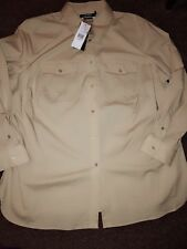 Ralph Lauren Woman's Wheat Shirt UK  Size 22 (XXL ) BNWT