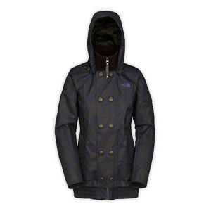 Women's North Face Potion Blue Insulated Blossom Ski Snow Jacket M New