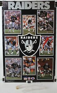 "Oakland Raiders Team Original NFL Starline Poster 1988 22 1/4"" x 34 1/2"""