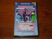 The Spy Who Loved Me VHS 1970s Action Warner Home Video PAL James Bond