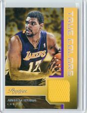 2012-13 PRESTIGE #28 ANDREW BYNUM JERSEY JSY - LOS ANGELES LAKERS 021914