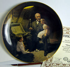 Grandpa's Treasure Chest Collector Plate from Norman Rockwell Painting 1983 +Box