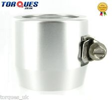 AN -20 (AN20) 40mm Silver Fuel Hose Clamp Finishers - For hose with 40mm O.D