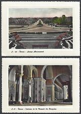 SYRIA 1967 TWO DAMASCUS POST CARDS INTERIOR OF THE OMAYAD MOSQUE & ABOUROUMANEH
