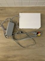 Nintendo Wii GameCube Compatible Console OEM Cords No Sensor Bar Cleaned Tested