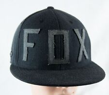 """FOX """"COLUMN"""" 210 FITTED HAT/CAP BLACK GRAY SIZE:6⅞-7¼ (S/M)"""