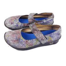 Alegria Womens sz 40 Paloma Blue Bubbles Leather Mary Jane Comfort Shoes