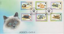 Unaddressed Jersey FDC First Day Cover 2002 Jersey Cats II Set 10% off 5