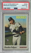 2019 Topps Heritage Brendan Rodgers Rc #508 PSA 10 A