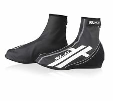 XLC All Weather Bike Boots Covers Fleece Reflective Rubber Overshoe Black Size 5