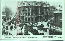 Pamlin repro photo postcard C1041 Omnibus Princes Street City of London 1900s