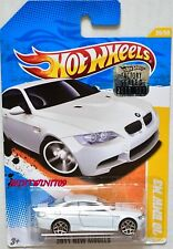 HOT WHEELS 2011 NEW MODELS '10 BMW M3 #26/50 WHITE FACTORY SEALED