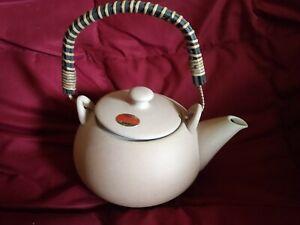 Tokoname-Yaki Japanese Terra Cotta Teapot with Handle Tokoname