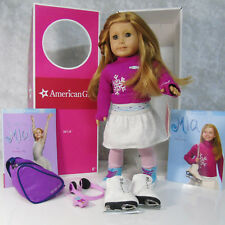 "American Girl 18"" MIA DOLL & MEET OUTFIT + ICE SKATES Red Hair Hazel Eyes AG BOX"