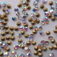 DIY 60 ud cuentas brillantes strass 1,2 mm cristal aurora boreal abalorios