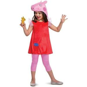 Peppa Pig Deluxe Girls size L 4/6X Official Nick Jr Character Costume Disguise