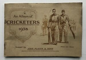 Cigarette Cards - Cricketers 1938 (John Player & Sons) - Complete Set In Album