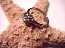Vintage 15Pt DIAMOND Ring 14K Gold SZ 4.75 Women's CLASSIC Engagement SOLITARE