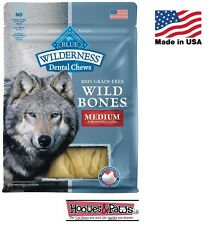 NATURAL Blue Buffalo WILDERNESS MEDIUM Dental Dog Treats Grain Free MADE IN USA