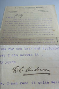 Marine-Historiker Roger Charles ANDERSON (1883-1976): Brief 1922 an Chr. VOIGT