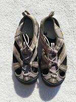 Men's Keen Newport H2 Green Taupe Sport Sandals Size 9 Waterproof EUC