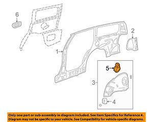 Saturn GM OEM 01-03 LW300 Quarter Panel-Seat Bracket Left 21018657