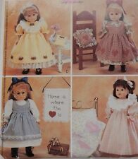 """P287 McCall's 18"""" Doll Country Dress Nightgown Pinafore Quilt Clothes Pattern"""