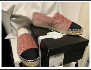 Chanel camellia espadrilles