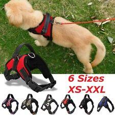 UK Non Pull Dog Harness Adjustable Soft Padded Vest Small Medium Large Extra Big