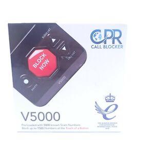 CPR Call Blocker V5000 Landline Block Robocalls Nuisance Spam Call Free Shipping