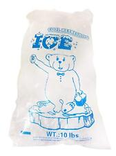 AquaNation 10lbs BPA Free FDA Approved Plastic Ice Bags (Pack of 100) Twist Ties