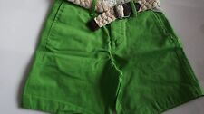 NWT Abercrombie & Fitch Green Mens Raquette River Shorts with Belt sz 28